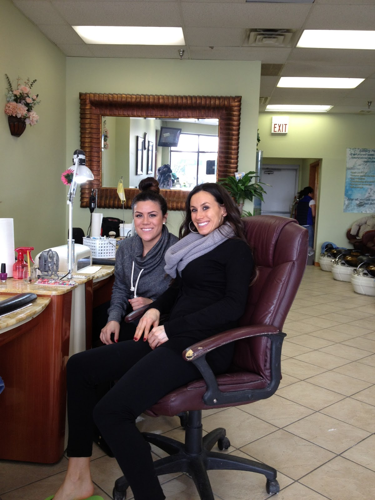 Growing baby gardner a little trip north for 4 sisters nail salon