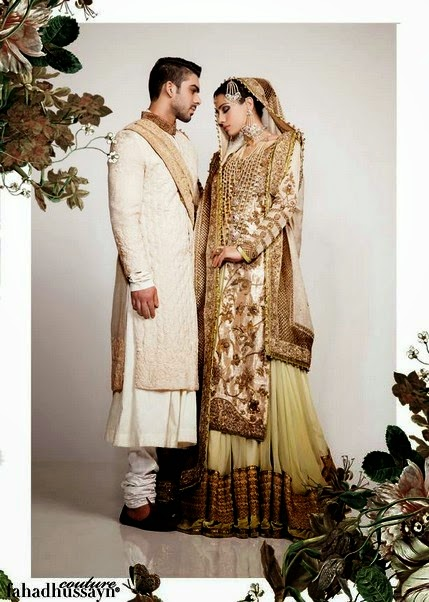 Latest dulha dulhan dress collection 2014