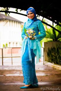 Baju Lace Biru