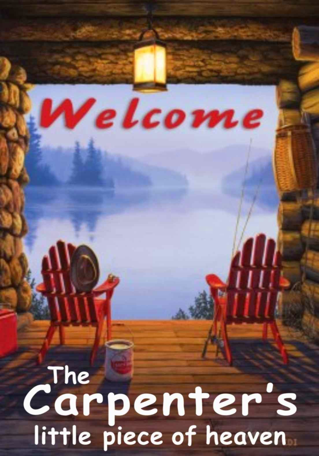 welcome to the lake personalized garden flag