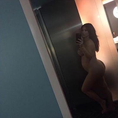Kim Kardashian Takes Pregnant Nude Selfie To Silence Critics