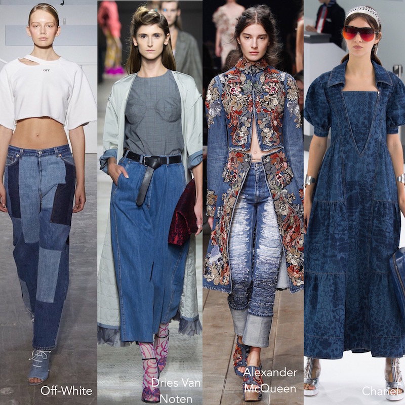 fashion trends, trend report, ruffles, bombers, sequins, tie dye,  off the shoulder, denim stripes, lingerie inspired, runway, nyfw, spring 2016