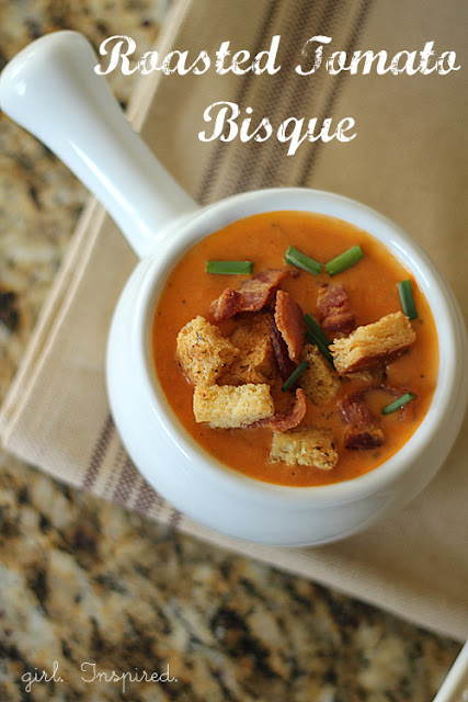 Tomato Bisque and Homemade Croutons (Recipe) - girl. Inspired.