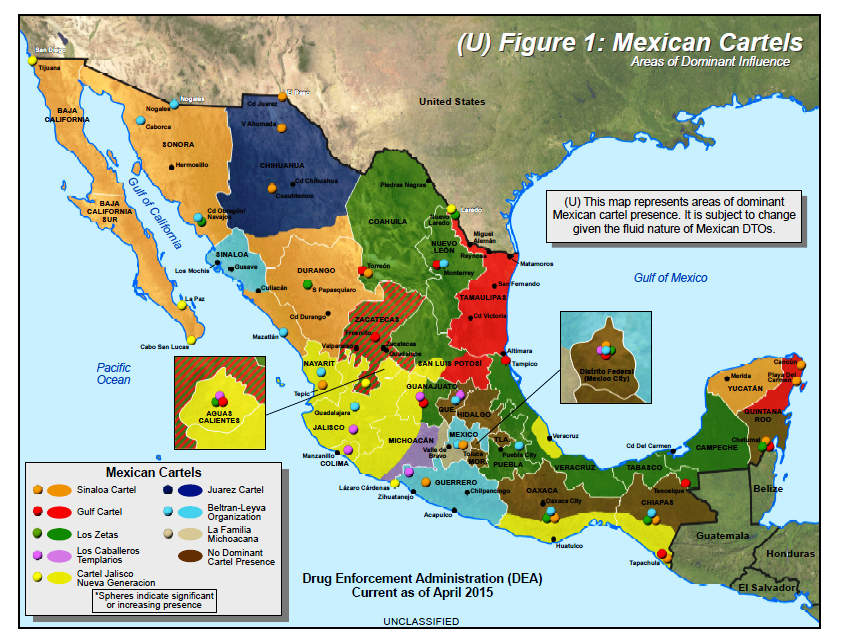 The Brownsville Observer: October 2015 Map of Drug Cartels in Mexico