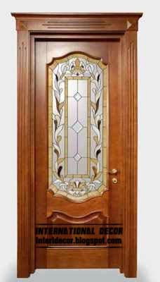 stained glass doors, stained glass in the interior
