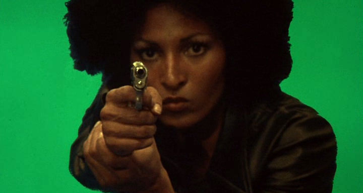 "Pam Grier as ""Foxy Brown"" (1974); Don't make her buss a cap."
