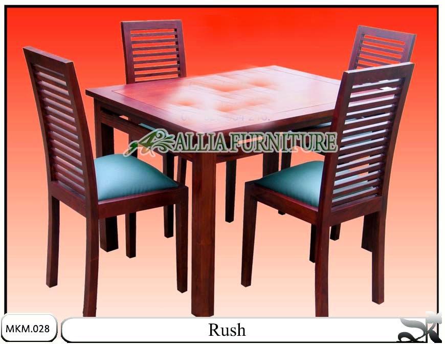 Set kursi makan dan meja minimalis Rush