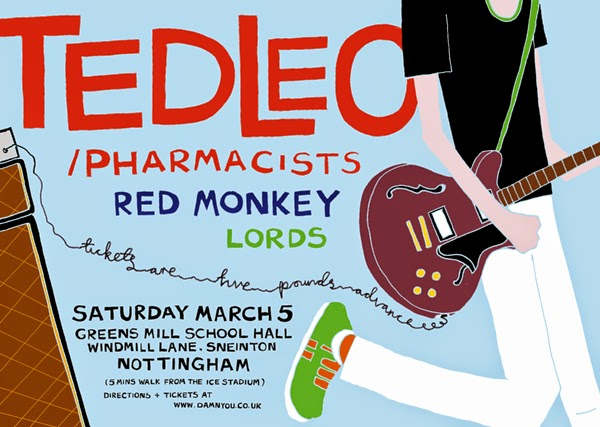 Ted Leo, Red Monkey, Lords Poster