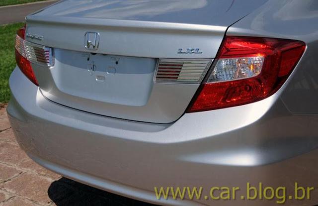 Novo Honda Civic 2012 LXL brasileiro - traseira