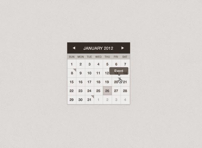 Mini Calendar PSD