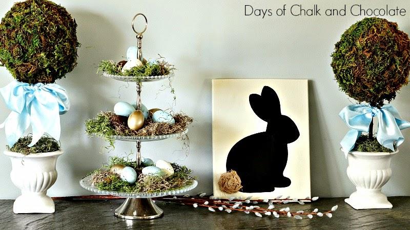 topiaries eggs bunny easter spring