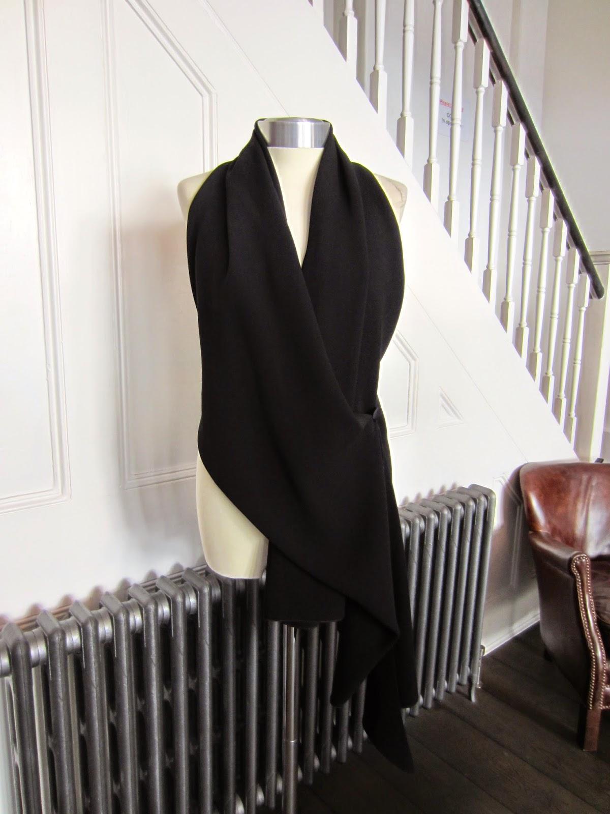 Celine Black Crepe Waistcoat