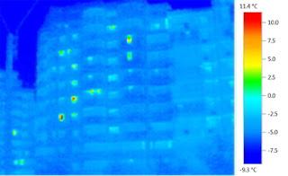 Bloc izolat termic - termoviziune