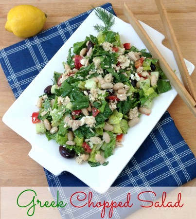 Greek Chopped Salad - The Witch in the Kitchen