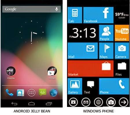 Perbedaan Android dan Windows Phone