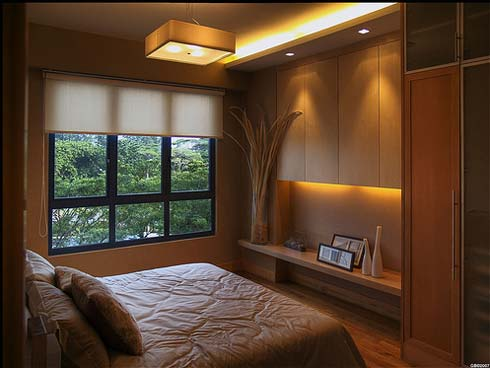 Small Bedroom Interior Design | Modern Cabinet