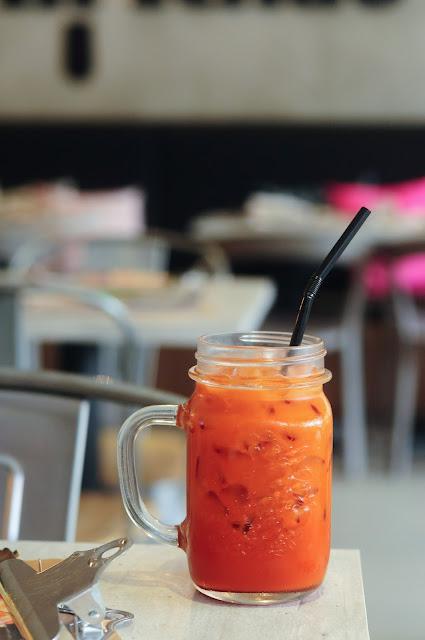 best Thai Iced Rose Milk Tea