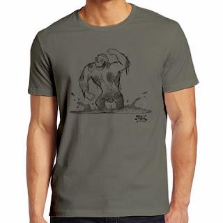 Gorilla Zombie t-shirt Miguel Ángel Martín