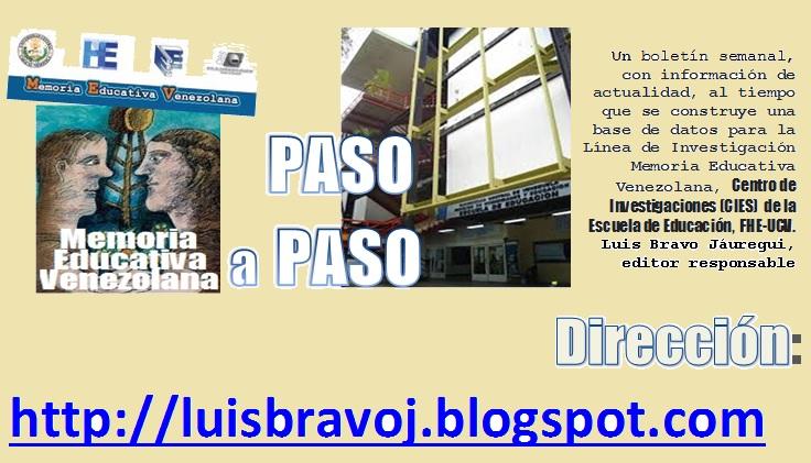Memoria Educativa Venezolana, paso a paso: 10/01/16 - 17/01/16
