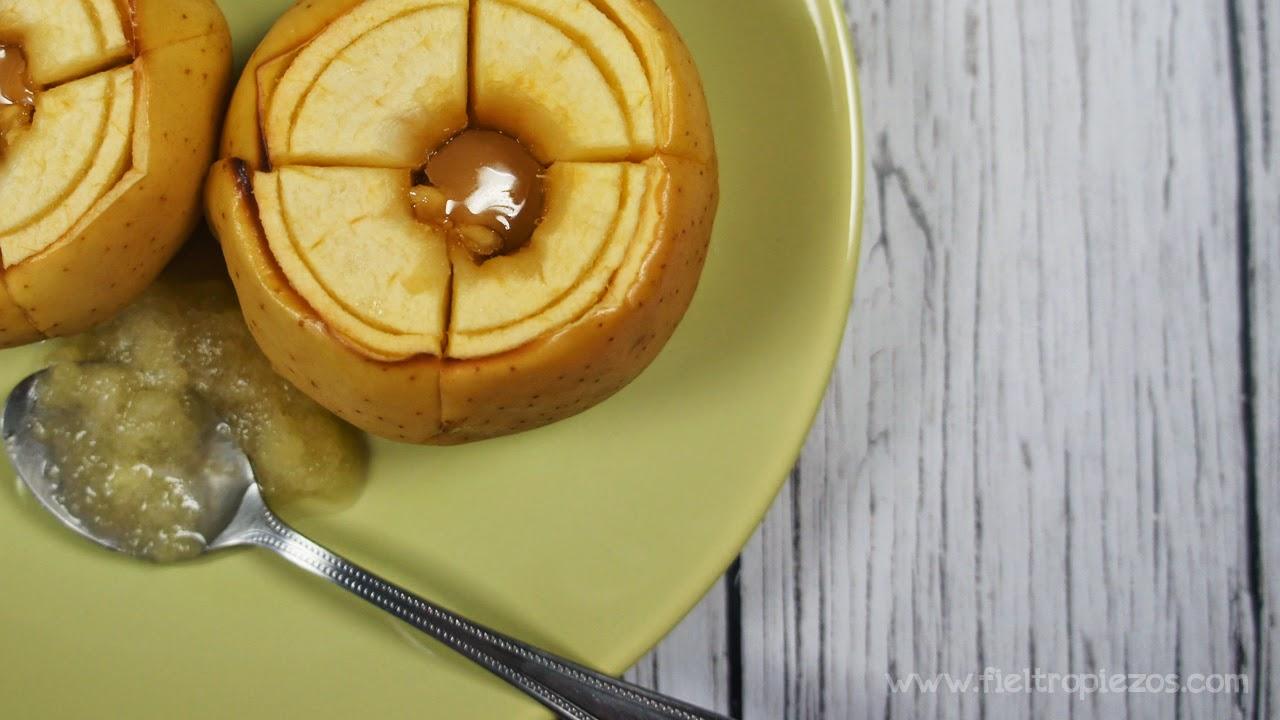 manzanas asadas con toque de toffe
