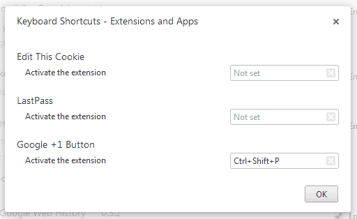 Create Keyboard Shortcuts Chrome Extensions