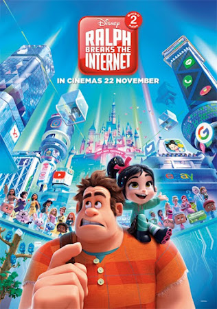 Poster Of Free Download Ralph Breaks the Internet 2018 300MB Full Movie Hindi Dubbed 720P Bluray HD HEVC Small Size Pc Movie Only At worldfree4u.com
