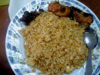 sambal ikan bilis bonda, sambal setan, nasi goreng kampung ebs, asam pedas ikan pari, sarah fairyland