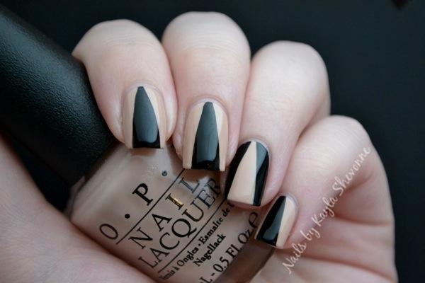 Nails By Kayla Shevonne Nude Black Deep V Nail Art