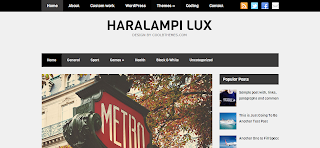 Haralampi Lux Blogger Template is a Wordpress To Blogger converted Free Blogspot Template