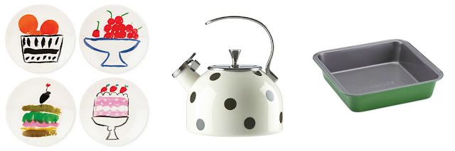 kate spade all in good taste tea kettle cake pan preppy home