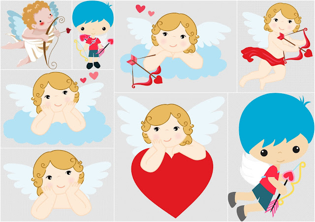 Sweet Cupids Clipart.