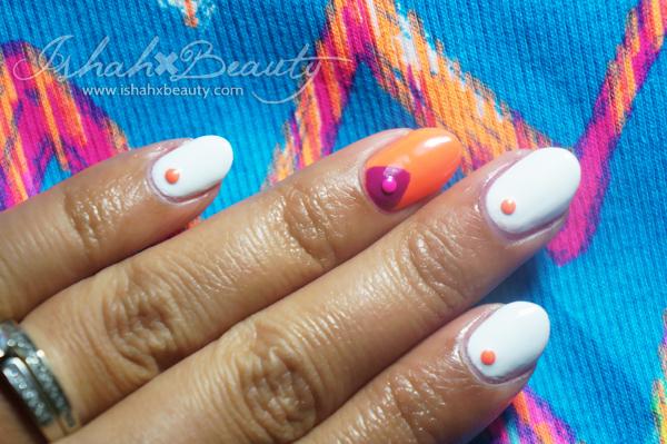 nail studs manicure white neon
