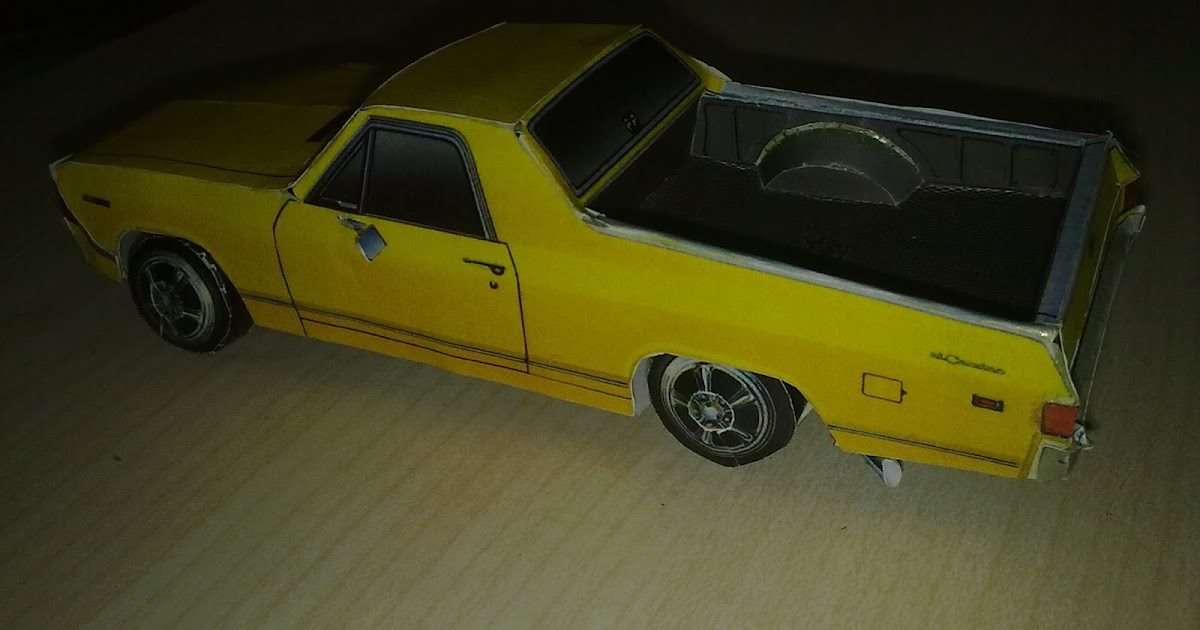 "Pan The God of Papers: Papercraft - ""Chevrolet El-Camino 1969"" Chevrolet"