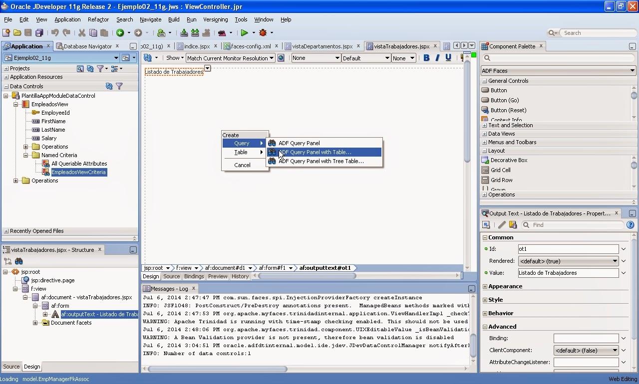 viewcriteria en pagina diseño