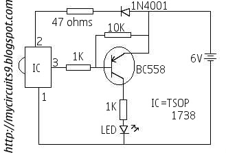 ir remote switch circuit