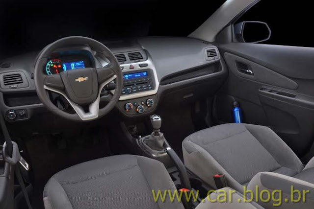 Novo Chevrolet Cobalt 2012 - painel digital