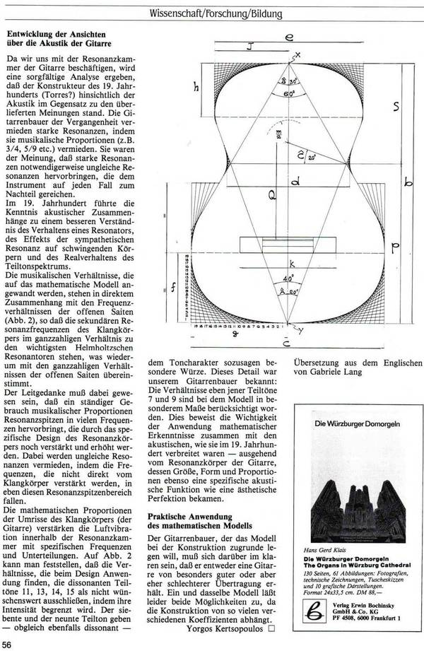 """The mathematical model of the guitar""-Kertsopoulos third page German"