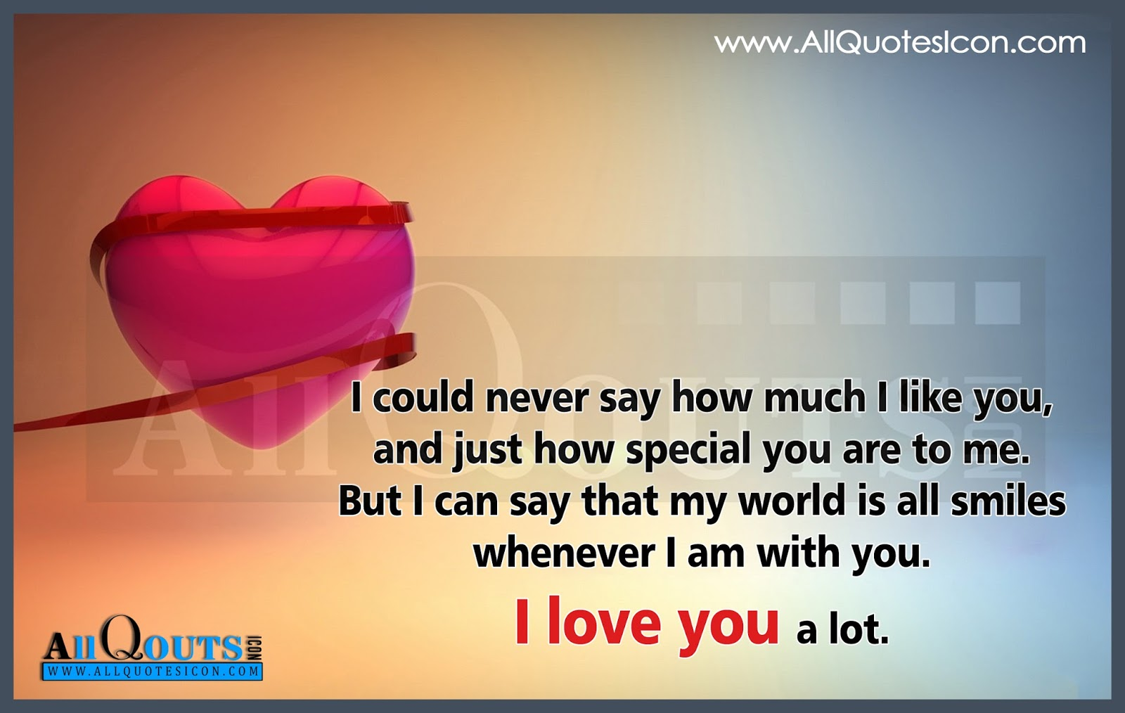 Iam with You Love Quotes and Images Awesome Heart Touching Love Messages English Quotes Pictures ...