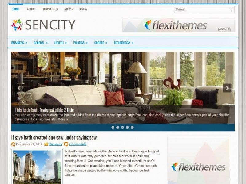 Sencity - Free Wordpress Theme