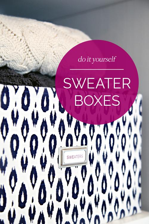 DIY Sweater Boxes