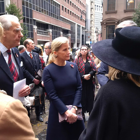 Sophie, Countess of Wessex visits The National September 11th Memorial Museum