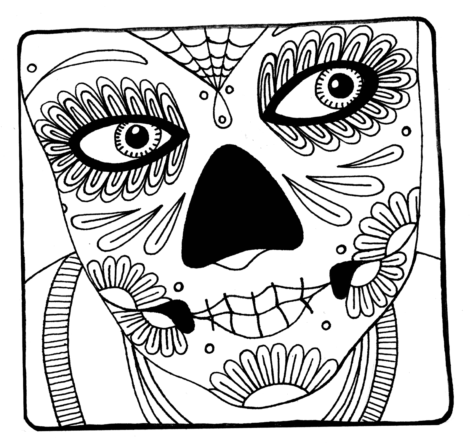 Yucca Flats NM Wenchkins coloring pages Womans face