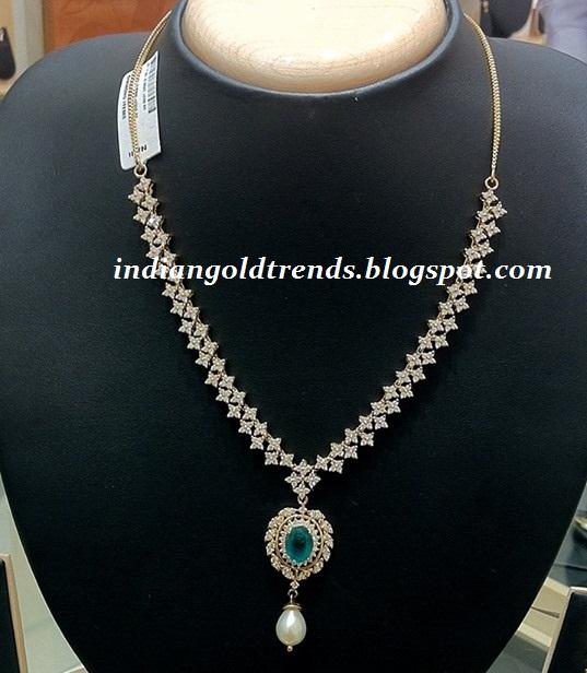 Indian Simple Gold Necklace Designs Simple Diamond necklac...