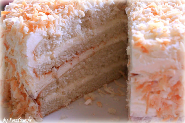 ... for the Eyes: Coconut Layer Cake with a Swiss Buttercream Frosting