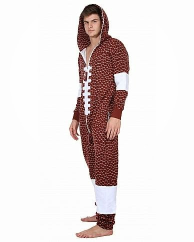 Football Adult Fleece Onesie