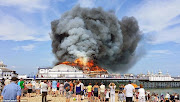 VICTORIAN EASTBOURNE PIER LOST TO FIRE