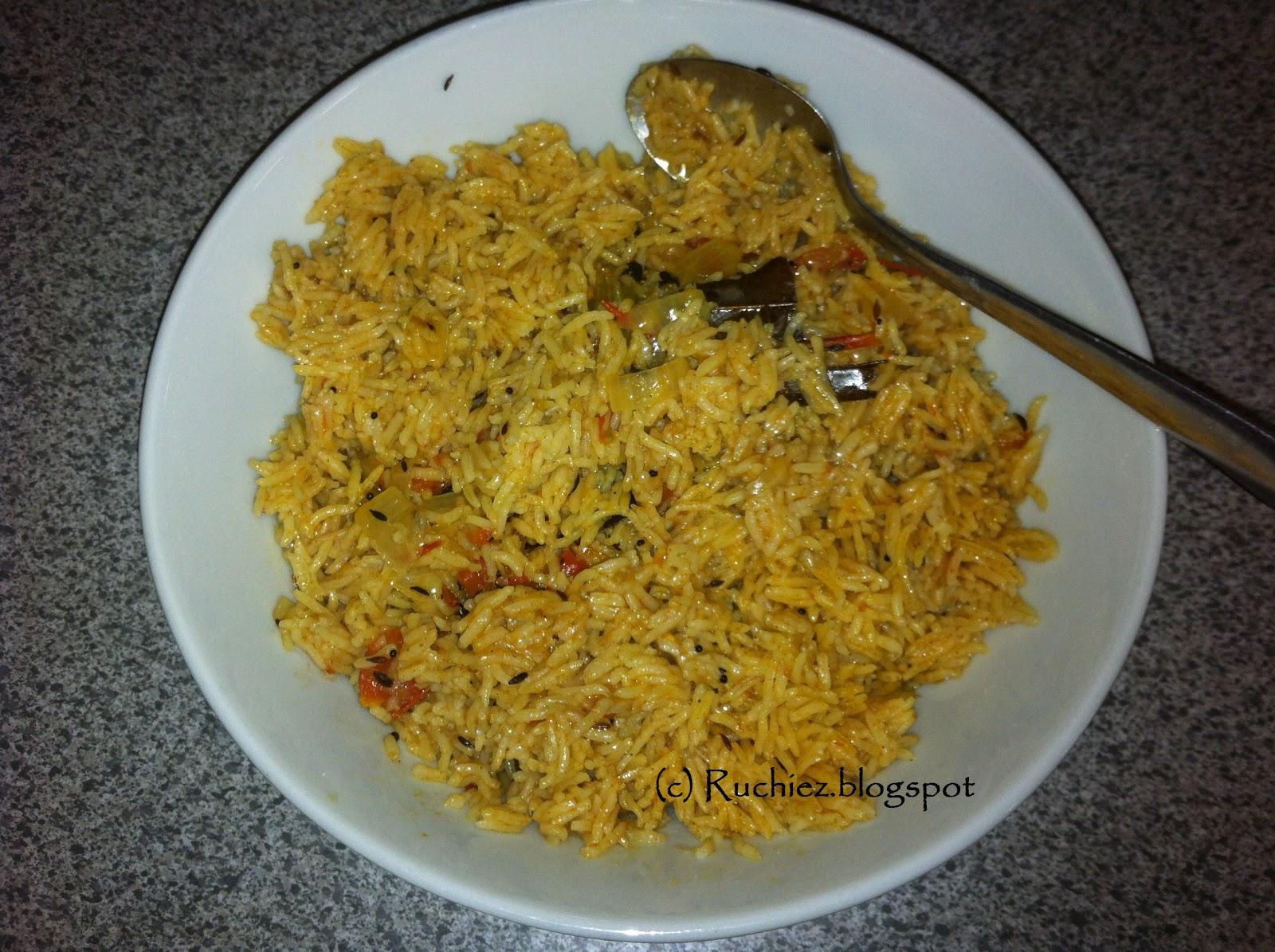 Ruchiezs spicy tomato rice kannada spicy tomato rice kannada language tamil language ccuart Choice Image