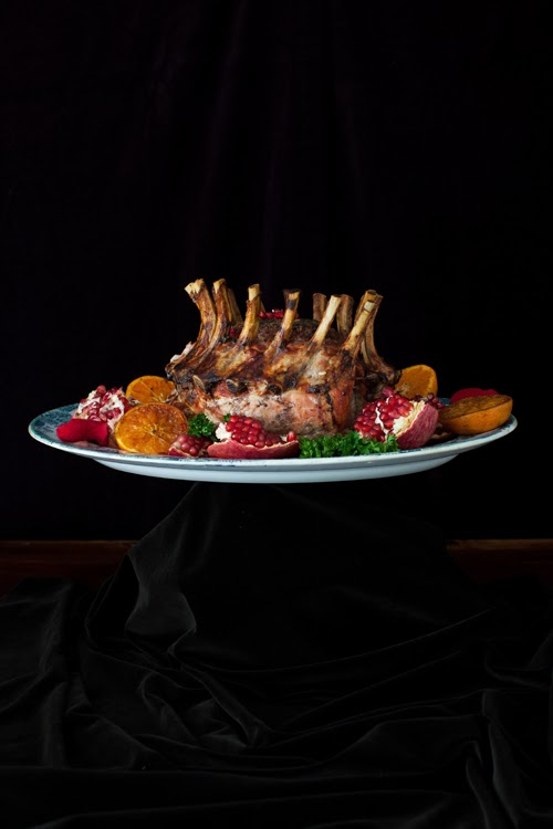 Crown Roast of Pork with Pomegranate at Cooking Melangery
