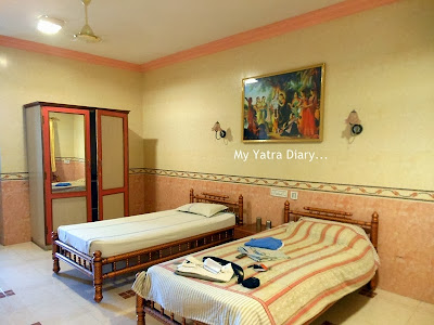 My room in ISKCON Tirupati Guest House, Andhra Pradesh