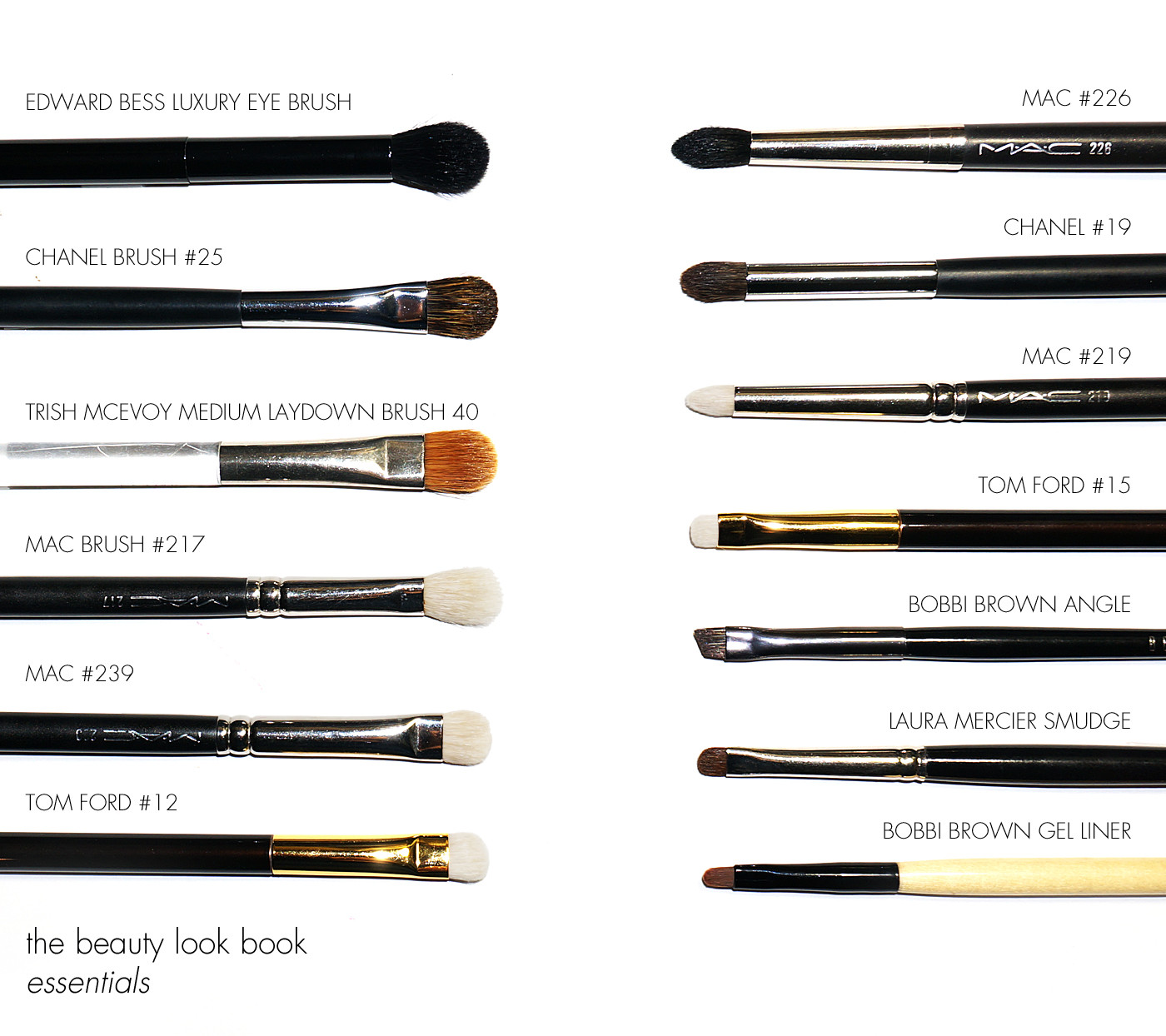 bobbi brown brushes uses. the beauty look book essentials | eye brushes bobbi brown uses t